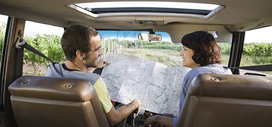 Otra buena manera de disfrutar de tu luna de miel es sin prisa, en tu coche y a tu manera