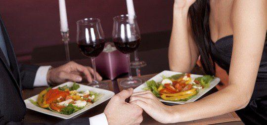 Una cena romántica es un éxito asegurado