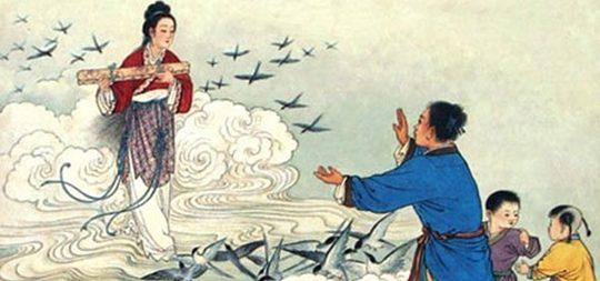El hada Zhinu y el pastor Niulang protagonizan la leyenda de Qixi