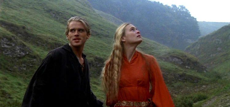 La princesa junto al caballero en la película