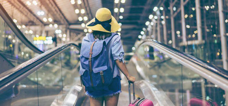 Chica de viaje