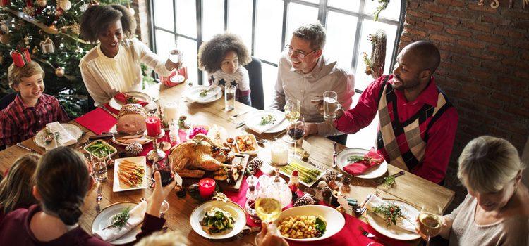 Familia en Navidad