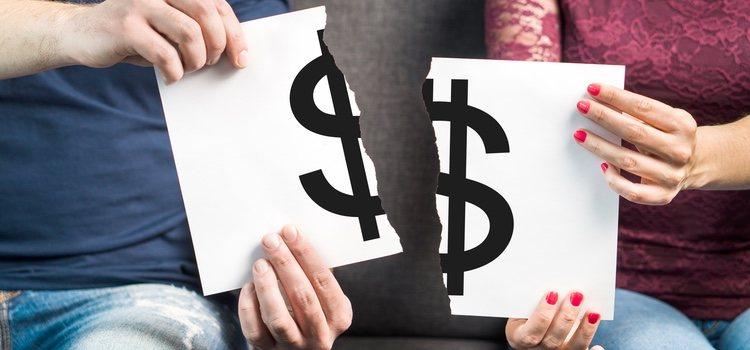 Las deudas de un matrimonio deben separarse de manera justa